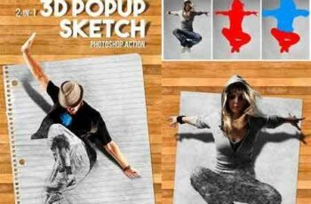 1703137 3D Popup Sketch Photoshop Action 19664815 5