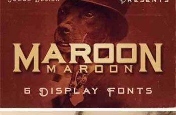 1703144 Maroon - Vintage Style Font 1360572 8