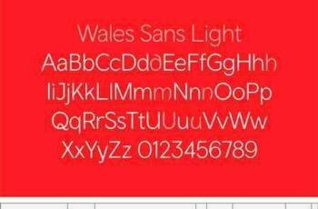 1703148 Wales Font Family 2