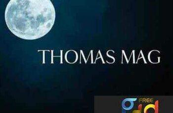 1703149 Thomas Mag font 1
