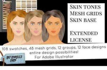 1703189 Skin tones - Adobe illustrator 1259588 3