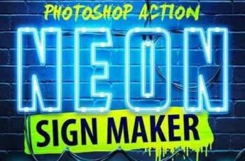 1703260 Neon Sign Maker Photoshop Action 19387470