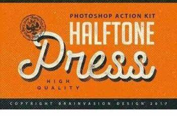 1703301 Halftone Press - Photoshop Kit 1206377 3