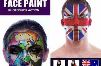 1703314 Face Paint Photoshop Action 19992483 3