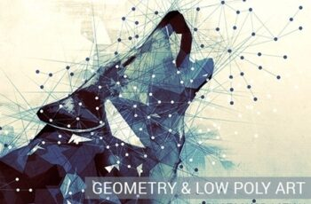 Geometry and Low Poly Art Photoshop Action 18096567 2