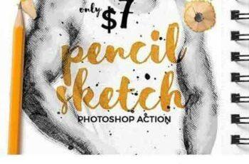 1704047 Pencil Sketch - Photoshop Action 1605093 2