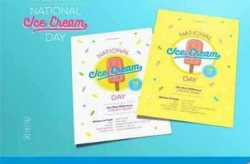 1704089 National Ice Cream Day Flyer