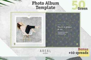 1704100 Photo Album Template - Green 1357532 5