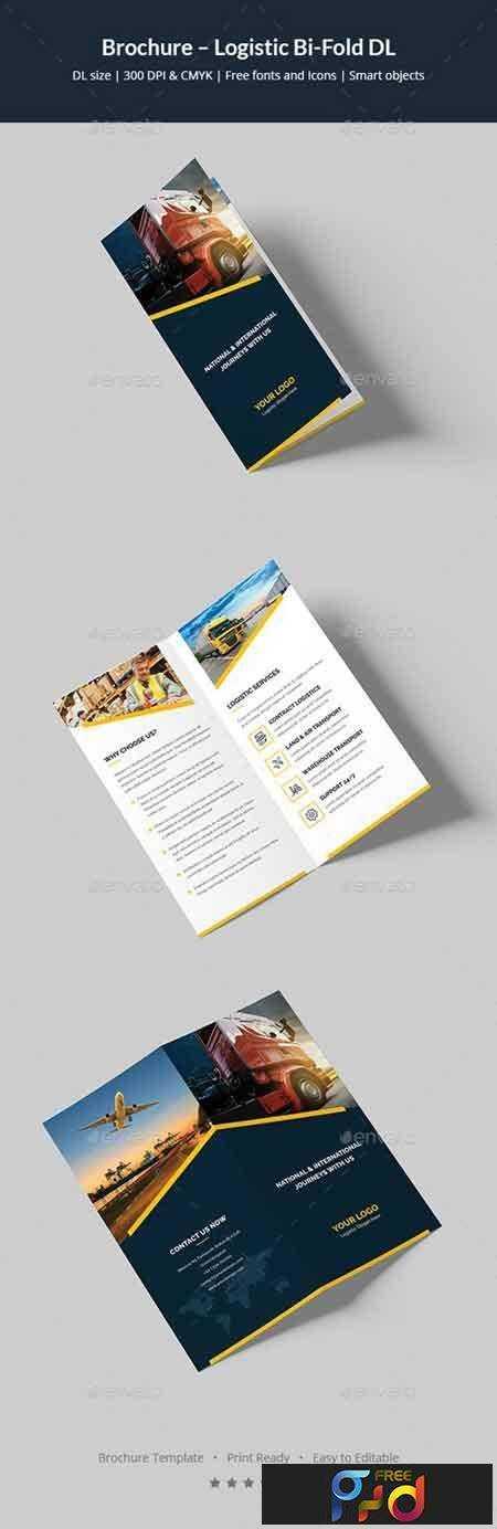 1704109 brochure logistic bi fold dl 20268950 freepsdvn for Dl brochure template