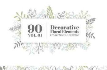 1704113 90 Decorative Floral Elements Vol.01 1587976 7