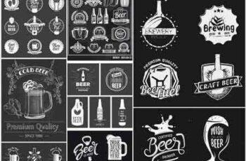 1704128 Beer Wine Whiskey Chalkboard #2 - 25 Vector 7
