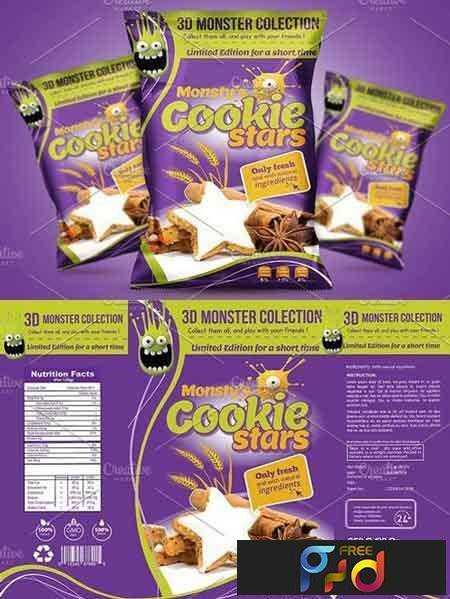 1704136 Cookie Packaging Design Template 1635010 Freepsdvn
