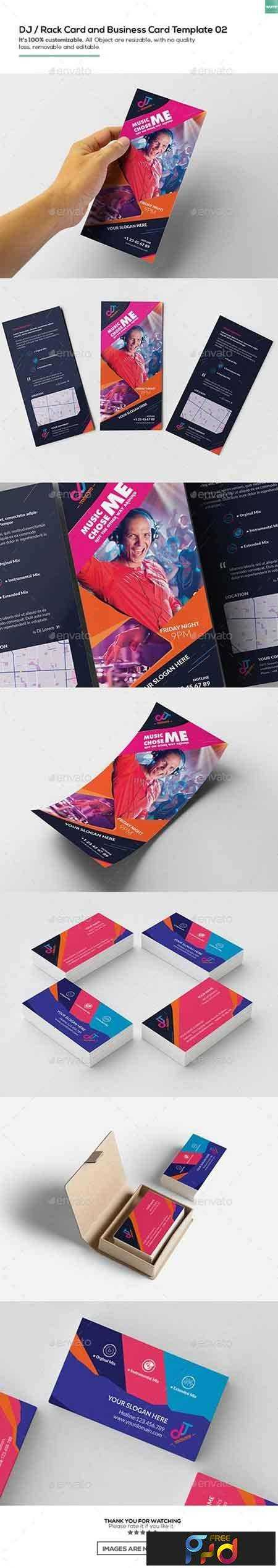 DJ Rack Card And Business Card Template Free - Rack card template photoshop
