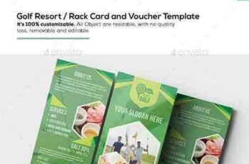 1704151 Golf Resort Rack Card and Voucher Template 15672216 5