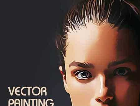 1704152 Vector Painting Photoshop Action 19221638 Freepsdvn