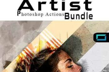 1704156 Artist Photoshop Actions Bundle 20236997 5