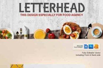 1704272 Letterhead Design Template for Fast Food Restaurants Cafe 20308425 5