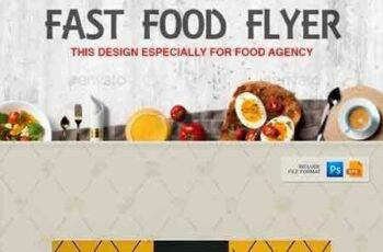 1704273 Flyer Poster Design Template for Fast Food Restaurants Cafe 20294979 5