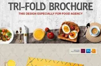 1704274 Tri-Fold Brochure Square & Tall Design Template for Fast Food Restaurants Cafe 20308586 7