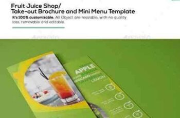 1704275 Fruit Juice Shop Take-out Brochure and Mini Menu Template 16402367 4