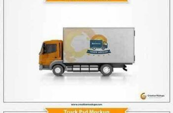 1704296 Delivery Truck Mockup Template 1696818 15
