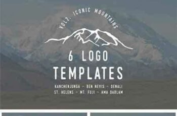 1705002 Iconic Mountain Logo Templates Vol 2 1740691