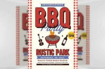 1705033 Neighbour BBQ Flyer Template 6