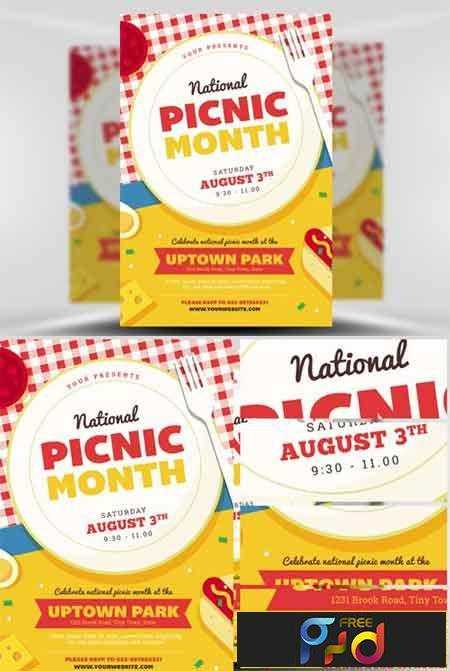 FreePsdVn.com_1705034_TEMPLATE_national_picnic_month_flyer_template.  1705034 National Picnic Month Flyer Template