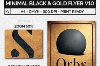 1705035 Minimal Black and Gold Flyer Template V10 20542093 2