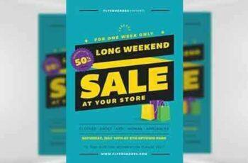 1705037 Long Weekend Sale Flyer Template