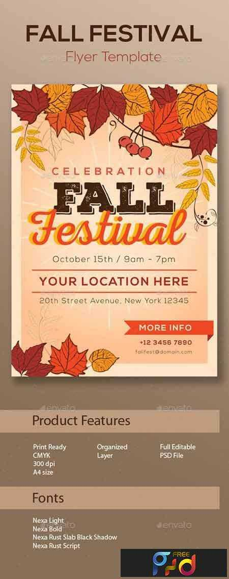 1705041 fall festival flyer template 13181451 free psd download free photoshop action. Black Bedroom Furniture Sets. Home Design Ideas