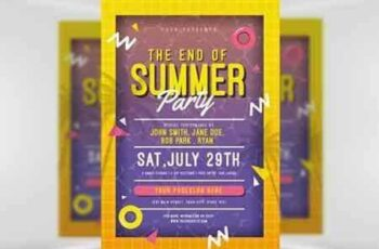 1705042 End of Summer Pool Party Flyer Template 5