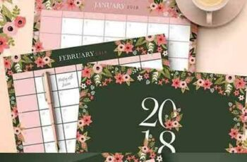 1705052 2018 Floral Calendar & Planners 1711242 5