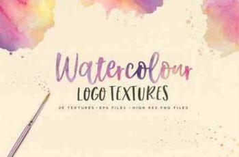 1705053 Watercolor Logo Textures + Font 1739272 5