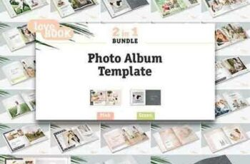 1705175 2 in 1 Photo Album Template Bundle 1364120