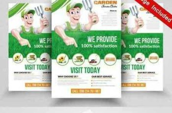 1705236 Green Service Flyer Templates 1827754 2