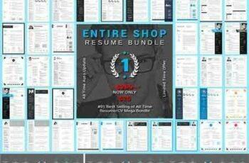 1705237 Entire Shop ResumeCV Mega Bundle 1827329 2