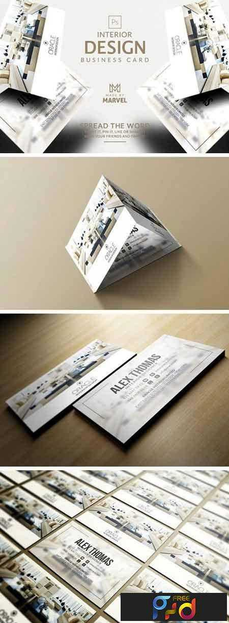 Interior Design Business Card Free PSD Download - Google drive business card template