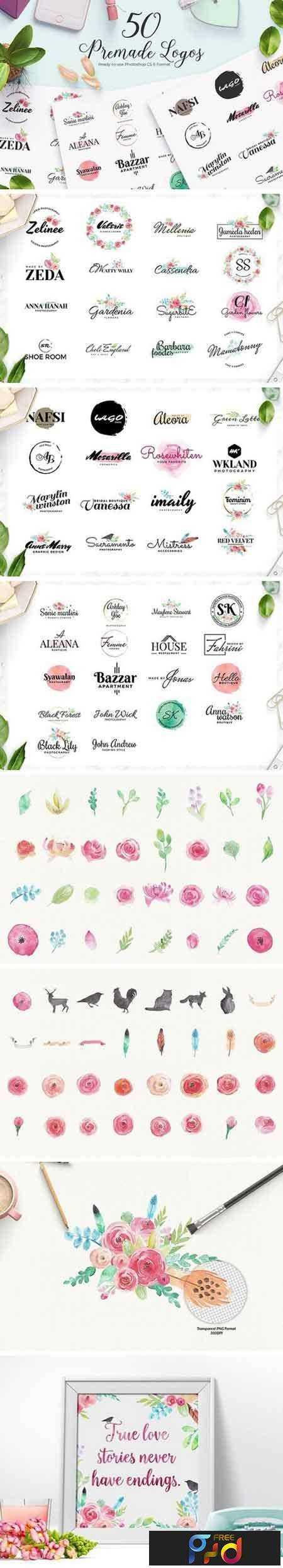 FreePsdVn.com_1705249_MOCKUP_50_premade_feminine_logos_1771021