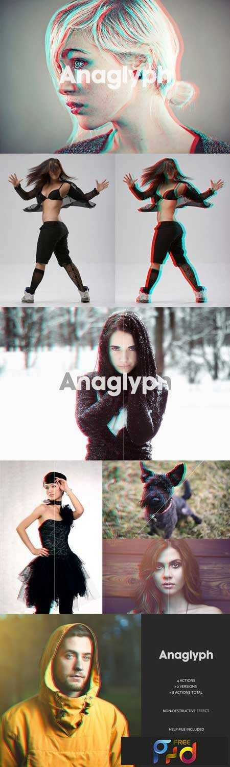 1705270 Anaglyph 3D Action - The Original 27628 - FreePSDvn