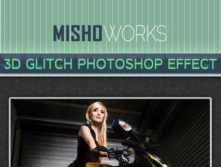 1705277 3D Glitch Photoshop Effect 9496590 - FreePSDvn
