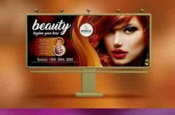 1705287 Golden Beauty Salon Billboard 5208101 5