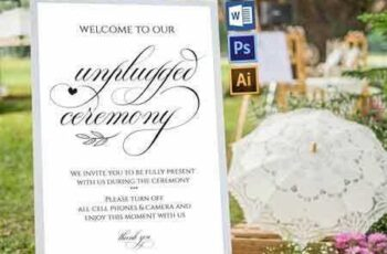 1705289 Unplugged wedding sign Wpc350 1800983 3