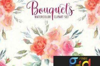 1705295 Watercolor bouquets clipart set 1847684 5
