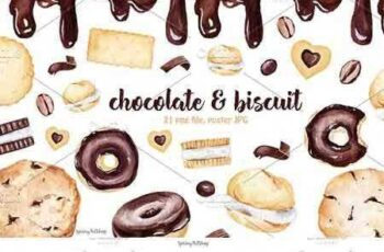 1705298 Chocolate & Biscuits clipart 1847158 6