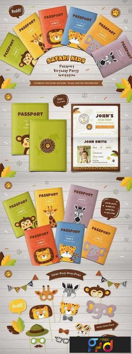 Passport Invitations Template Free from freepsdvn.com