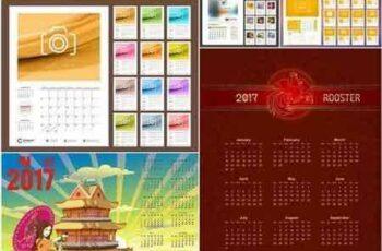 1706081 Calendar 2017 Template - 15 Vector 4