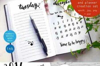 1706088 Ink calendar and planner set 1062095 7