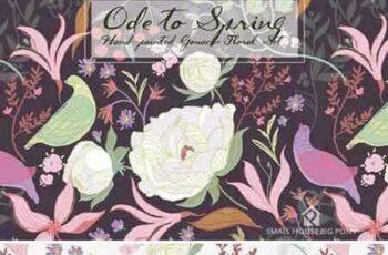 1706096 Ode to Spring- Gouache Floral Set 1290811 5