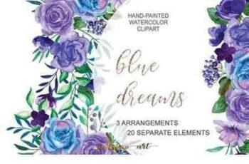 1706098 Purple & Blue Floral Bouquets 1820356 5